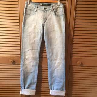Lee size 10 faded jeans