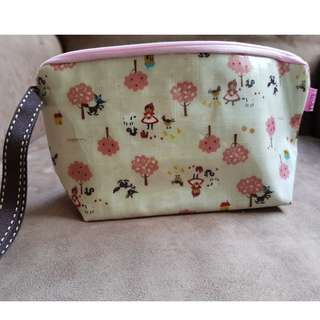 Dolly Club Red Riding Hood Cosmetic Bag, Cosmetic Pouch, Holder. Made in Taiwan