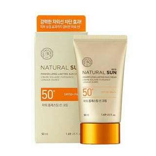 The Faceshop Natural Sun Power Long Lasting Sun Cream