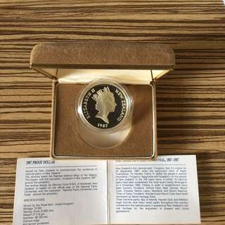 New Zealand 1987 silver proof coin