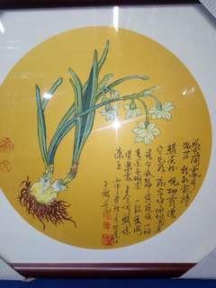 中国画<水仙>