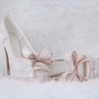 Comfy Customised Bridal / Wedding Heels (Valentino inspired)