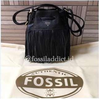 Tas Fossil Jules Drawstring Black Bag