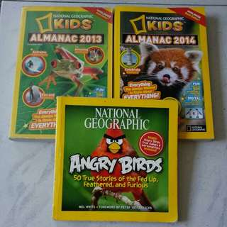 National Geographic Kids Almanac 2013, 2014 & Angry Birds