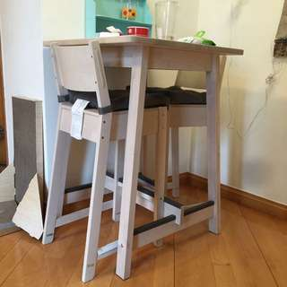 IKEA 高身餐桌餐椅一套