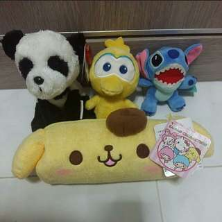 New Soft Toys and pencil case