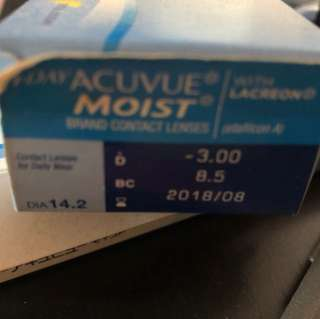 1 Day Acuvue -3.00