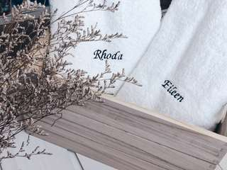 Customised bath towels