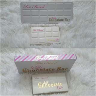 Limited Edition Too Faced White Chocolate Bars