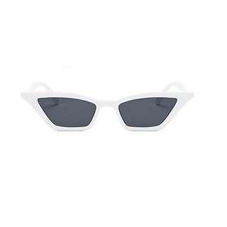 Cat Eyeglasses White Frame with Case