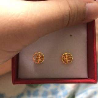 916 Gold Earring abacus