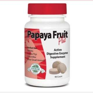 Brand New Oxbow Papaya Fruit Plus Tablets