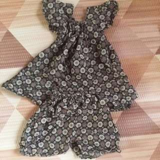 Indonesia Batik Baby Girl Jumpsuit