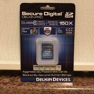 全新 Delkin 4GB SD Card