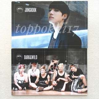 BTS Dark & Wild Photocard Jungkook Group