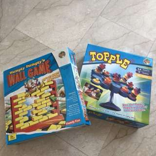 Family Fun - Topple Game and Humpty Dumpty Wall game suitable for children 3 to 10