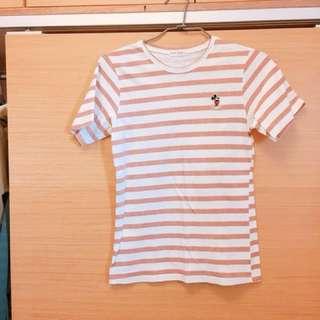 🚚 米老鼠 條紋短袖