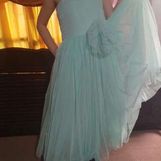 Mint Green Tulle Gown for Kids