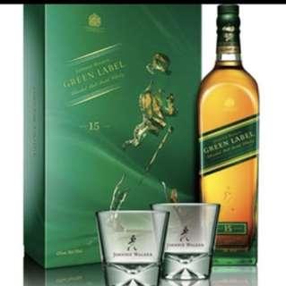 Johnnie Walker Green Label Limited Edition Design 限量版連經典醴讚杯