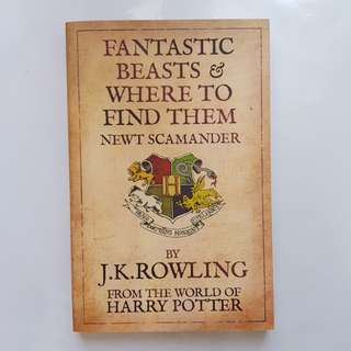 Fantastic Beasts and Where to Find Them  Book by J. K. Rowling