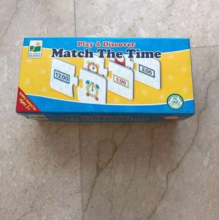 ELC education learning : Play and Discover: Match the Time puzzle game