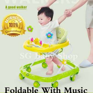 Brand new Walker/Baby walker/baby chair/toys and Music /Adjustable height/2018 new model