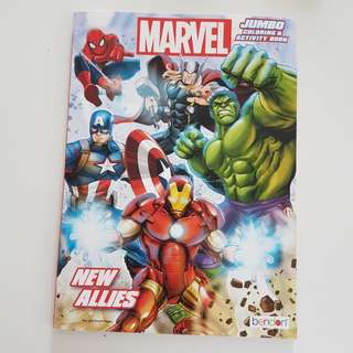 Marvel Avengets coloring book