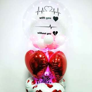 Personalize clear balloon led balloons custom balloon
