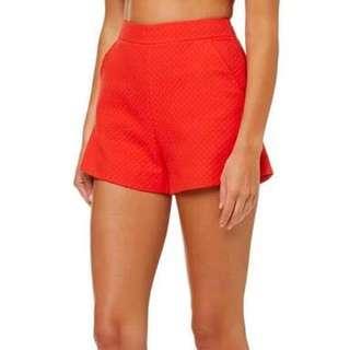 WTB kookai red marguerite shorts size 36