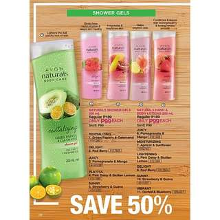 NATURALS SHOWER GEL & HAND AND BODY LOTION