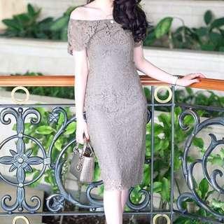Sabrina lace dress