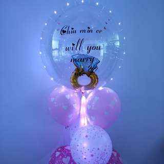 Wedding proposal balloon customising