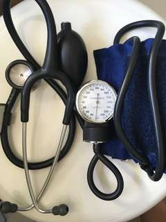 Littmann stethoscope and BP device