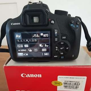 Canon EOS1200D with EF-S 18-55 IS II lens