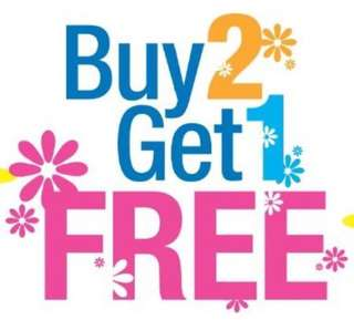 Buy two, get one free