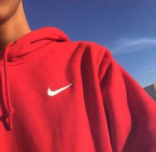 nike oversized red sweater