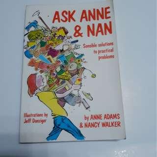 Ask Anne and Nan by Adams, Anne B.; Walker, Nancy, 1989