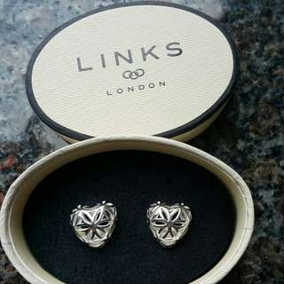 Links of London Maze Heart Earrings 通花心形耳環