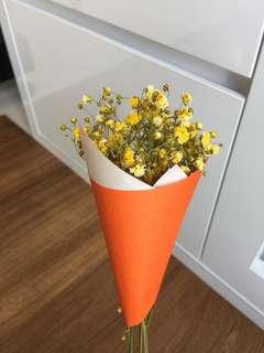 Mini dried baby breath flower bouquet