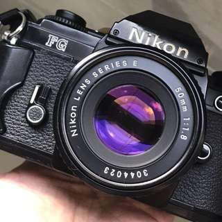 Nikon FG + 50mm F1.8 (Professionally Serviced!)