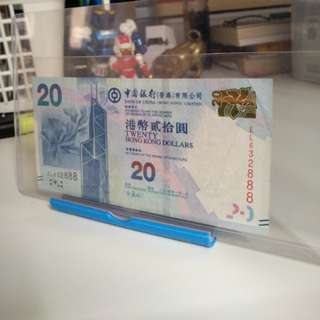 2014Bank of China twenty hk dollars banknote