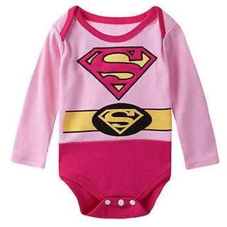 Supergirl Baby Romper