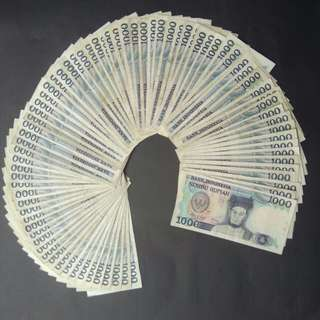 Uang kuno / uang jadul 1000 Sisingamangaraja / seribu Sisingamangaraja