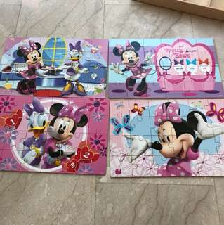 Disney Micky and Minnie 4 Puzzle set