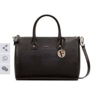 Furla Linda Satchel Black