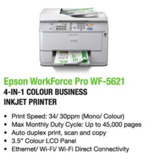 Epson WorkForce Pro WF-5621 Wi-Fi Duplex All-in-One Inkjet Printer
