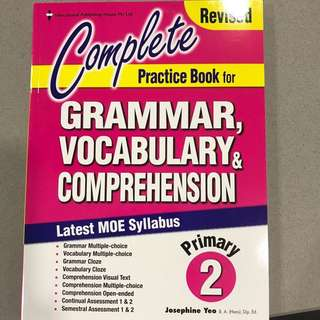 Complete practice book for grammar, vocabulary and comprehension - primary 2
