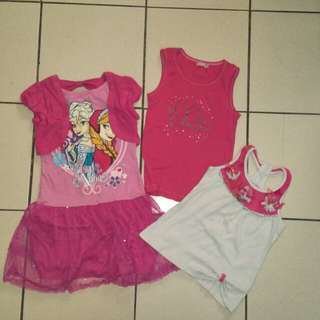 Bundle clothes dress and top