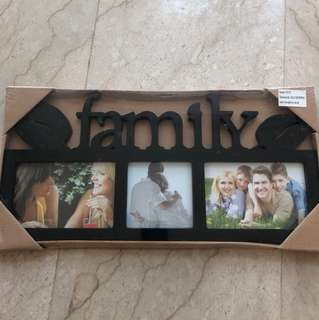 Photo Frame family Black brand new in wrapped package