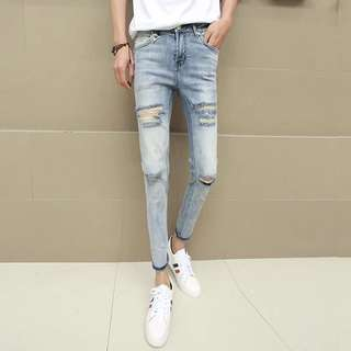 Denim Ripped Jeans 27-34